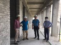 Kiểm tra tình hình thi công công trình tại Học viện Nông nghiệp Việt Nam